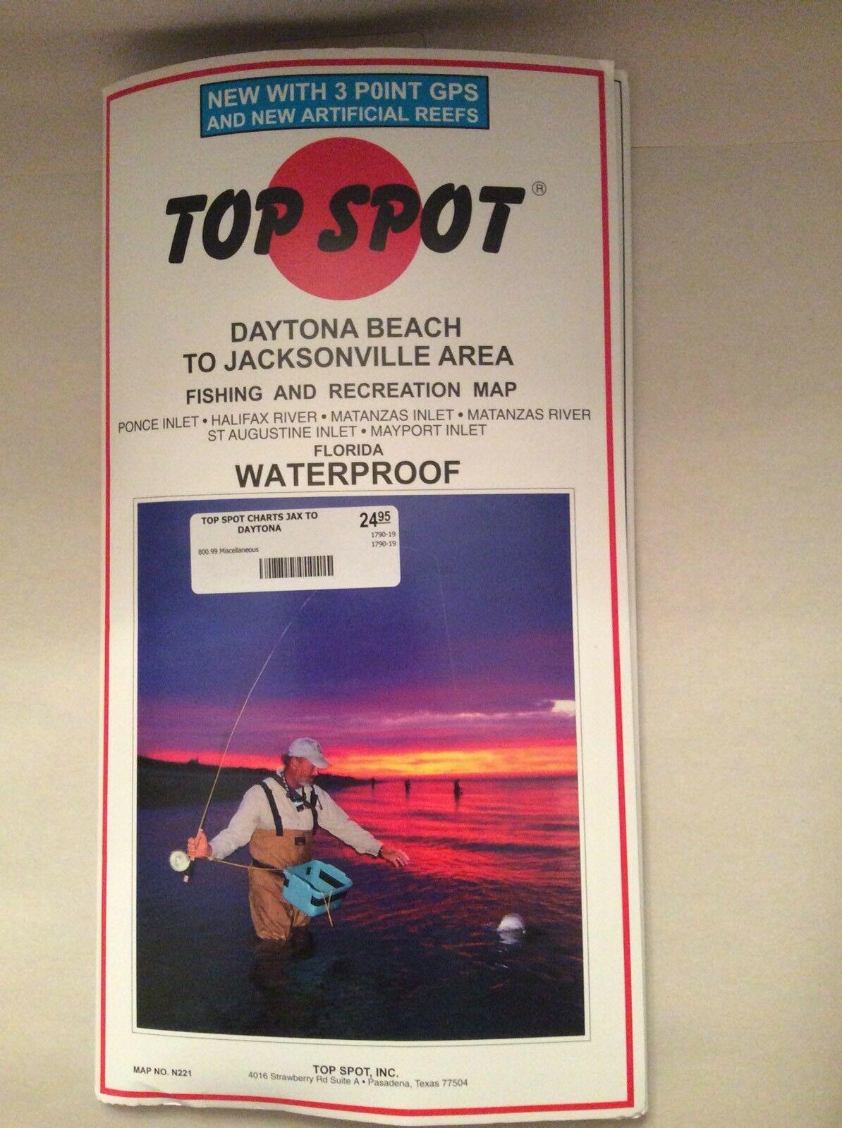 Buy Top Spot N221 Map- Daytona Jacksonvil Ponce Inlet Mayport Online - Top Spot Maps Texas