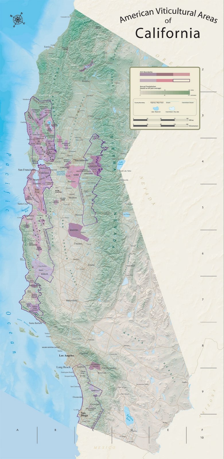 Ca Ava Map Jpg 781 1599 Usa Pinterest Wine In California Ava - Touran - California Ava Map
