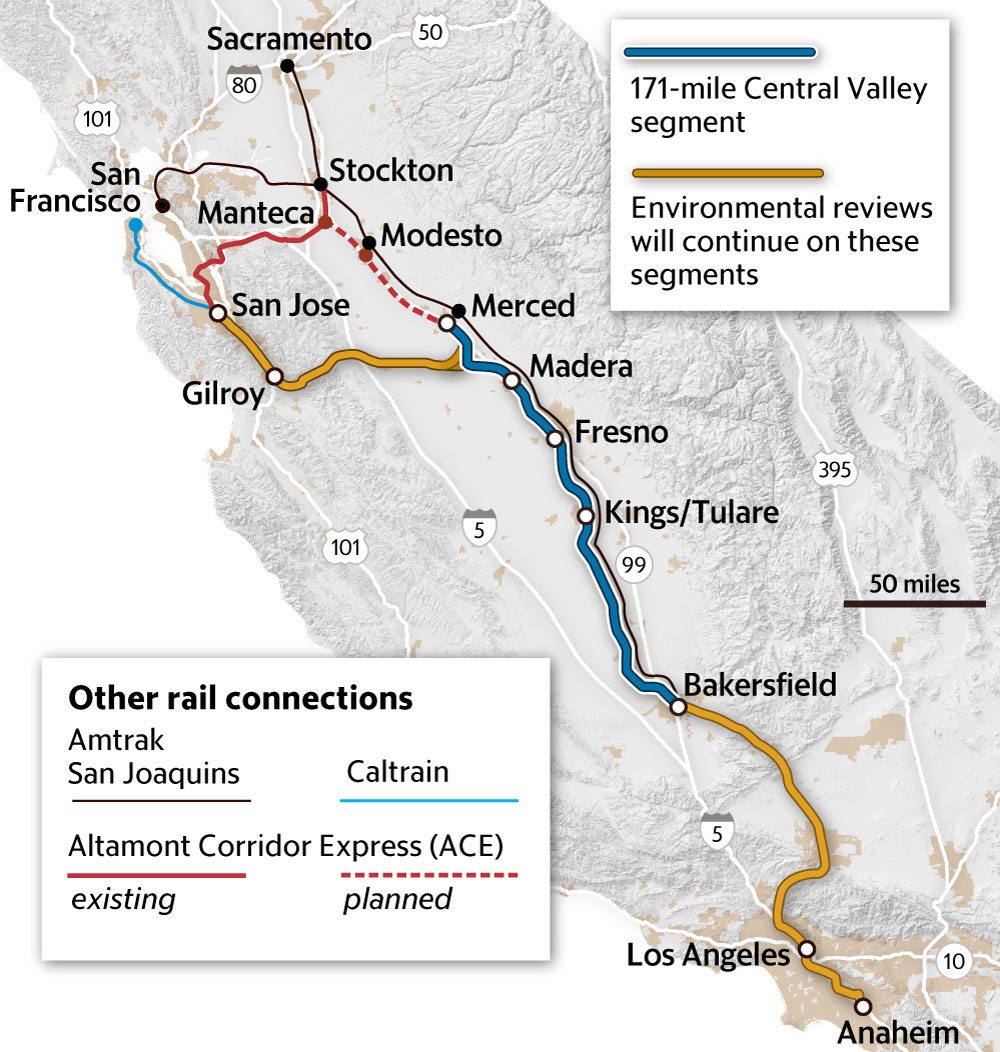 Ca Governor Gavin Newsom: High-Speed Rail Price Is Too High   The - High Speed Rail California Map