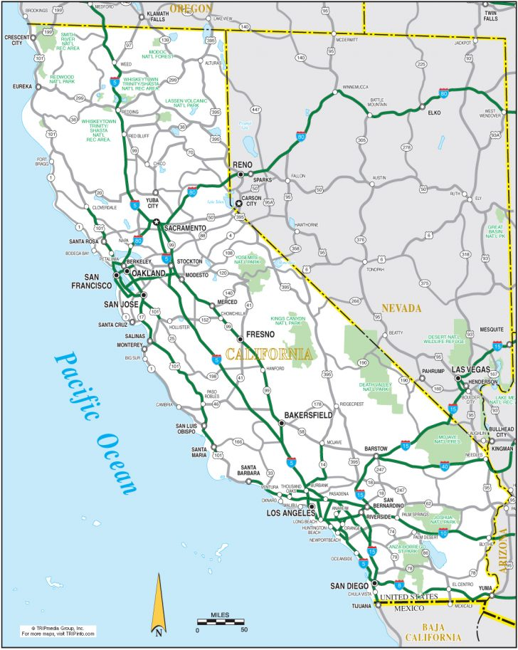 Map Of California Showing Palm Springs