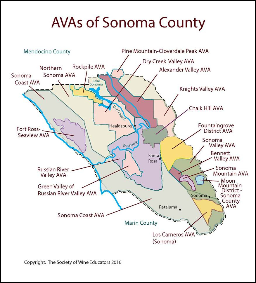 Ca Sonoma Swe Map Valid Map Of Sonoma California Wineries Map - Sonoma California Map