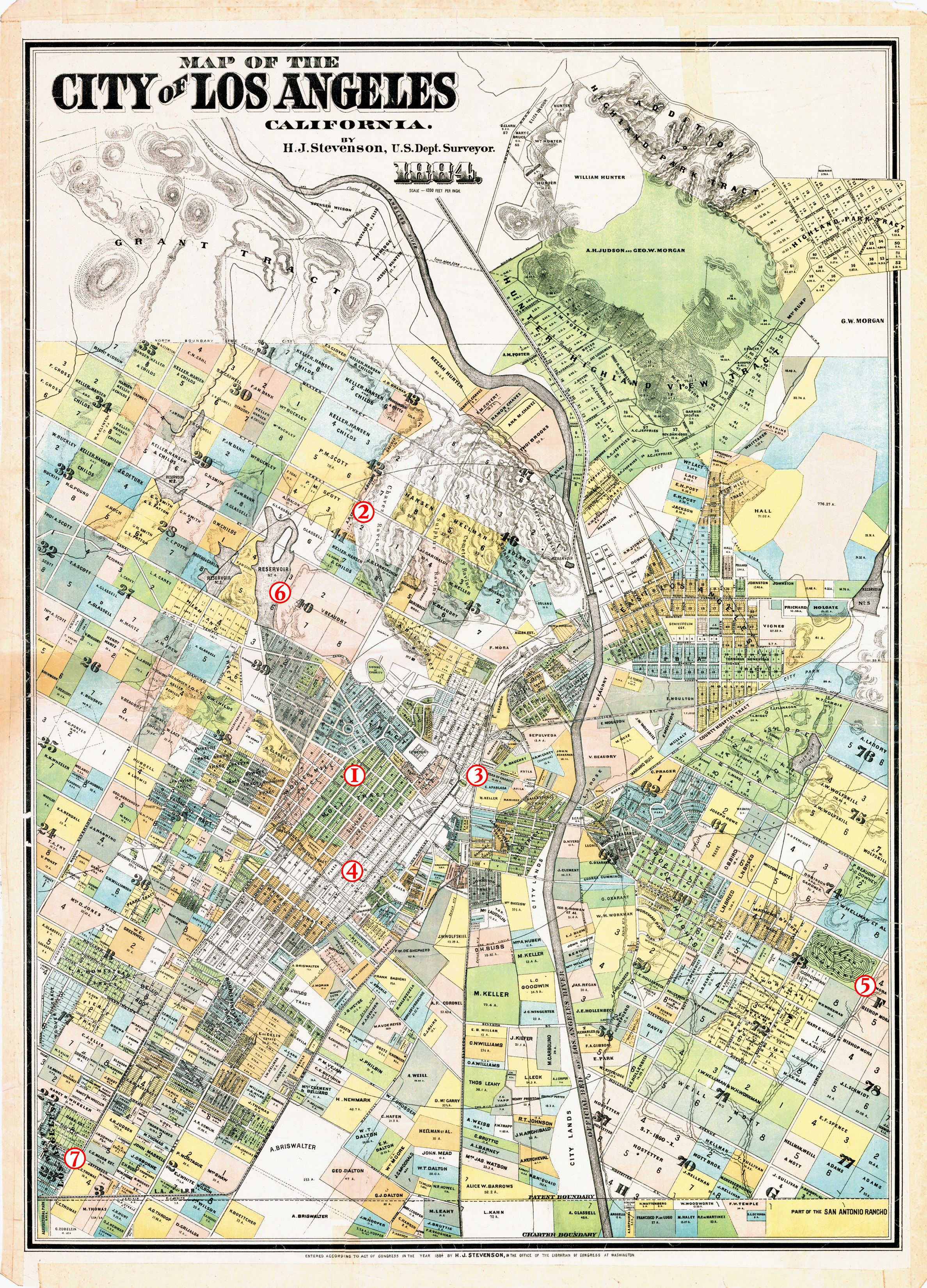 Cadastral Map Of Los Angeles 1884 | Maps Of Los Angeles | Pinterest - Van Nuys California Map