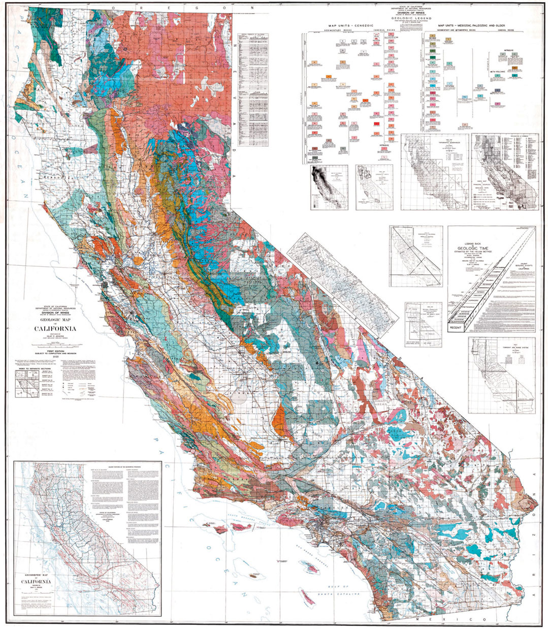Cageomap Page Large Map Of Geological Map Of California - Klipy - California Geological Survey Maps