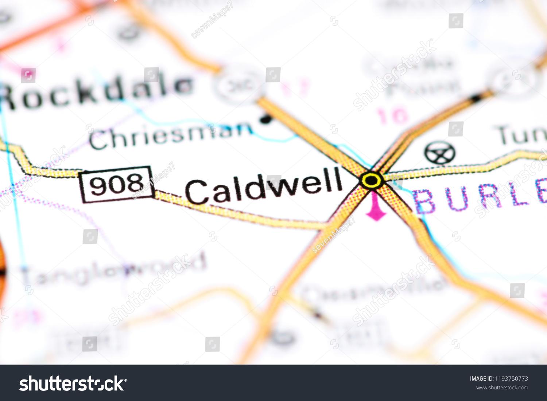 Caldwell Texas Usa On Map Stock Photo (Edit Now) 1193750773 - Caldwell Texas Map