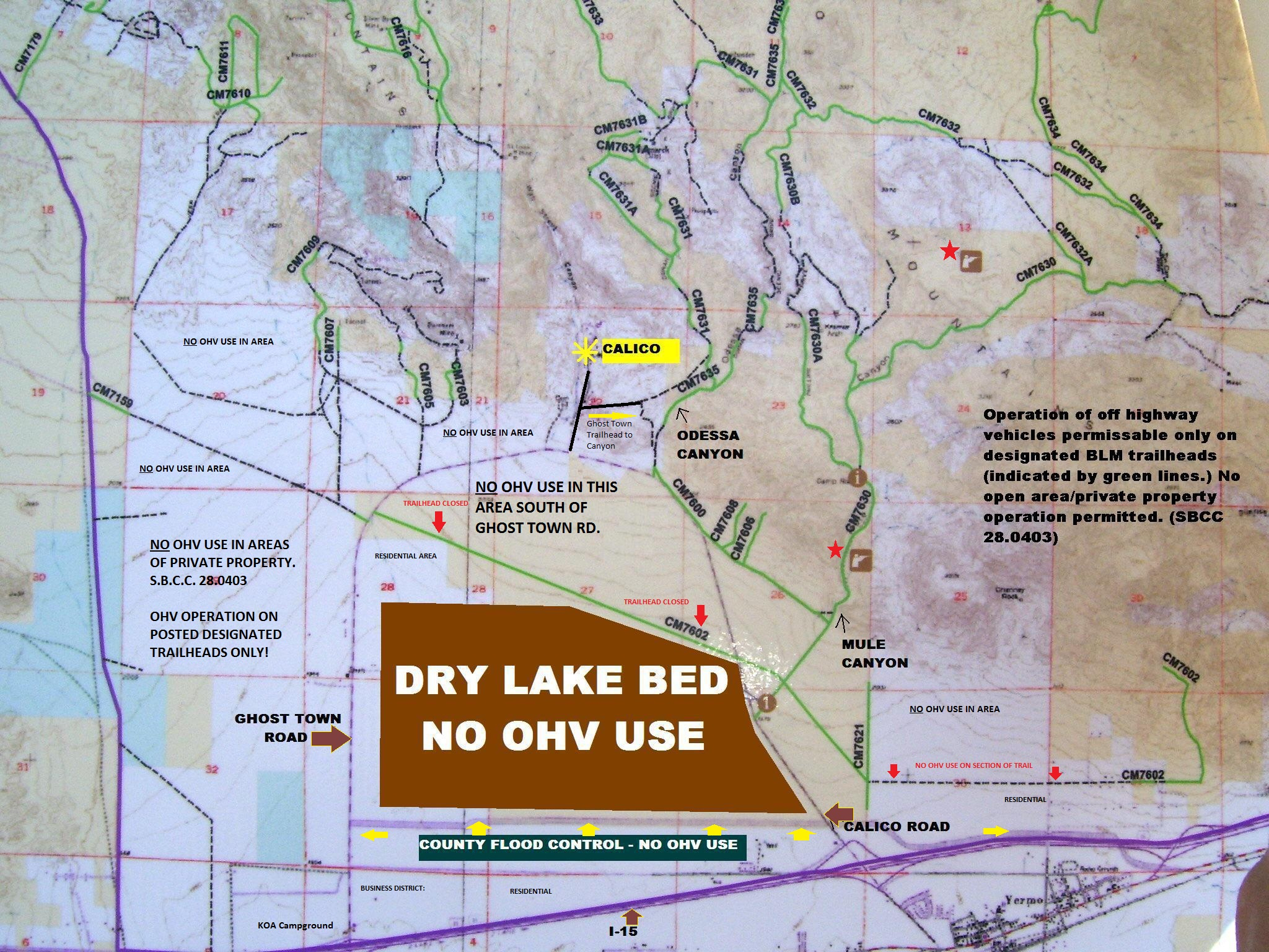 Calico Ohv Information - California Blm Shooting Map