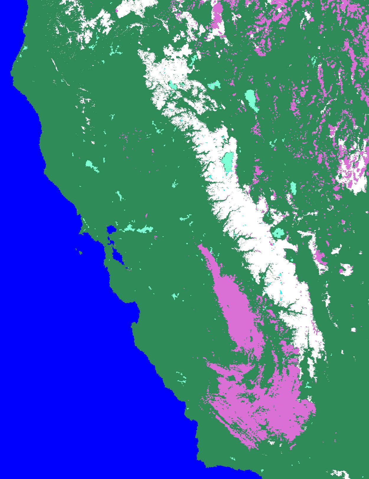 California 10/31/04 - California Snow Map