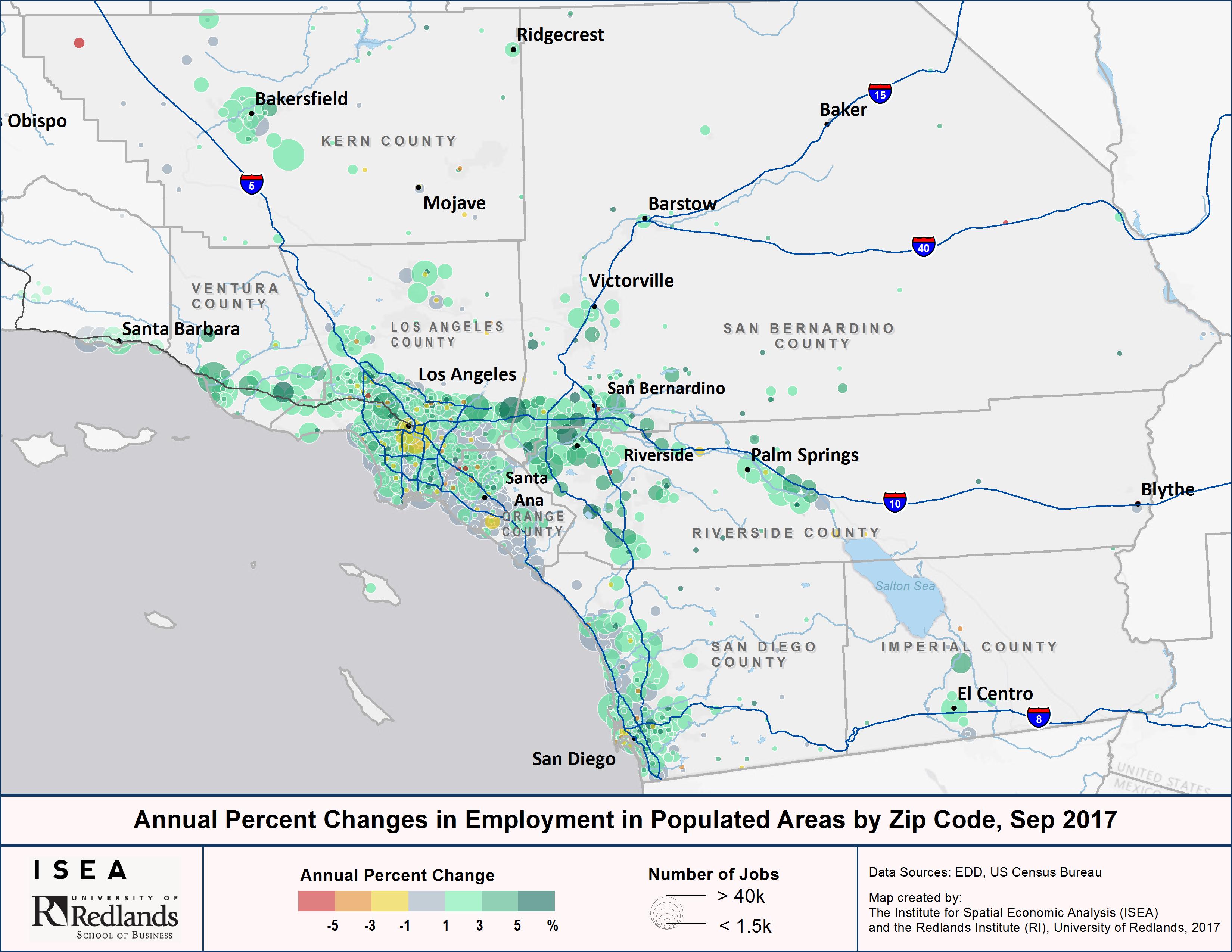 California Adds 52,200 Jobs In September | Isea - Baker California Map