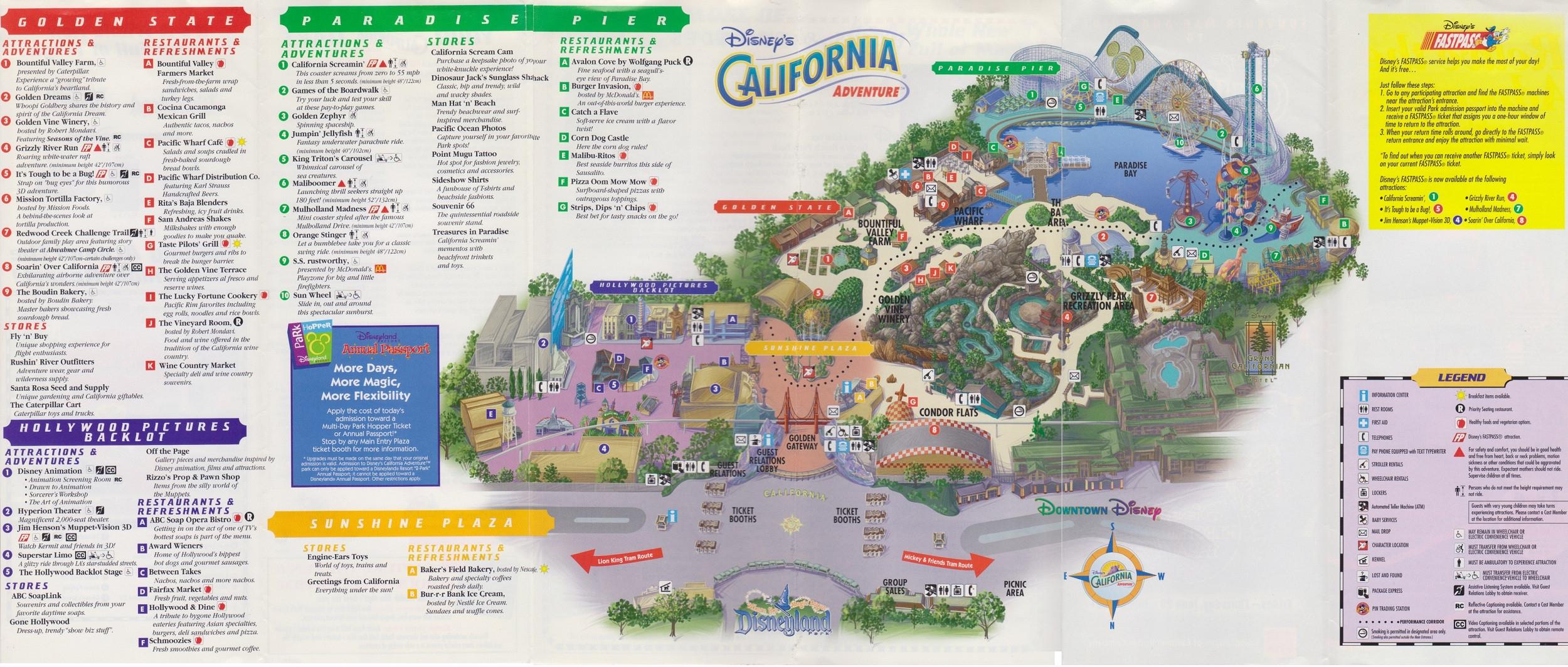 California Adventure Map 2018 Printable Map California California - Disneyland Map 2018 California