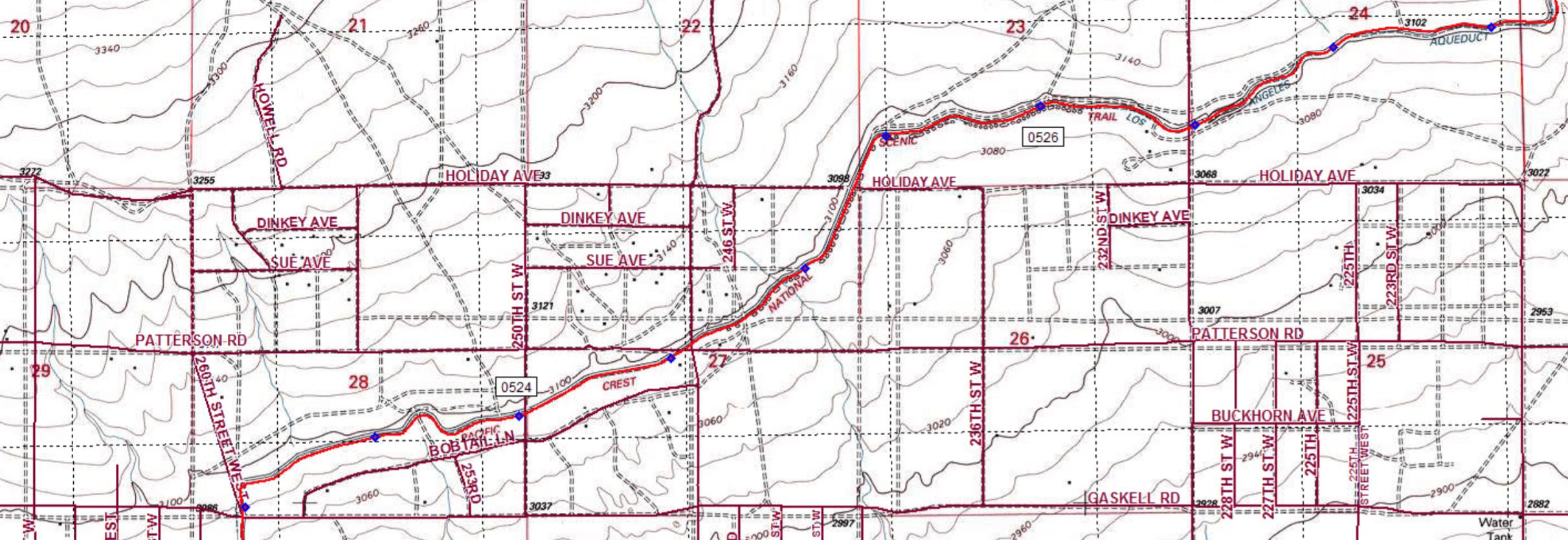 California Aqueduct Fishing Map Free Printable Best Section Hikes - California Aqueduct Fishing Map