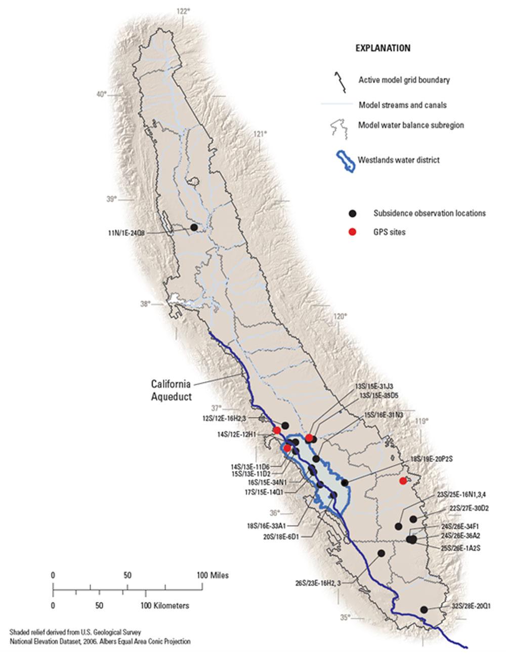 California Aqueduct Subsidence | Usgs California Water Science Center - California Water Map