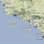 California Beach Cities Map   Klipy   Map Of Southern California Beach Cities