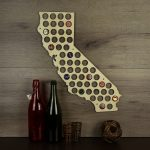 California Beer Cap Map Beer Cap Holder Cap Map Cap Maps | Etsy   California Beer Cap Map