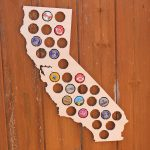 California Beer Cap Map Bottle Cap Map Collection Beer Cap Gift Art   California Beer Cap Map