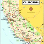 California California State Map Printable California Map With Cities   Printable Map Of California
