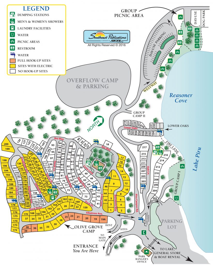 California Campgrounds Map - Klipy - California Camping Map