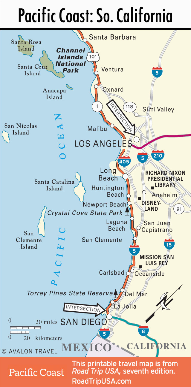 California Coast Attractions Map Map San Clemente California Klipy - San Clemente California Map