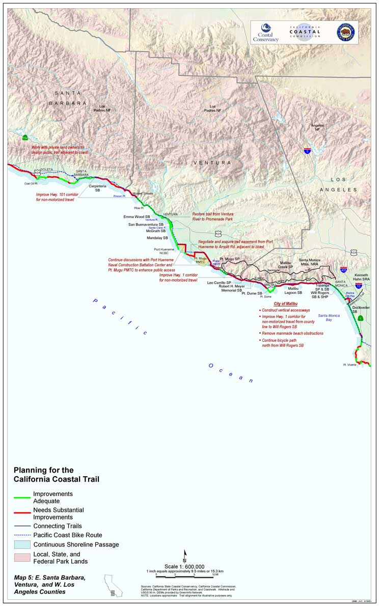 California Coastal Trail - California Coastal Trail Map