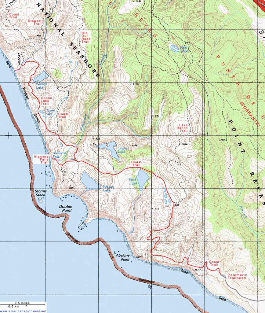 California Coastal Trail Map - Klipy - California Coastal Trail Map