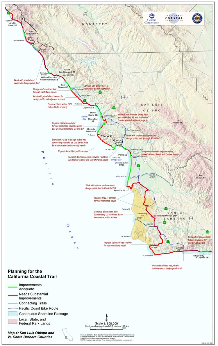 California Coastal Trail - Southern California Trail Maps