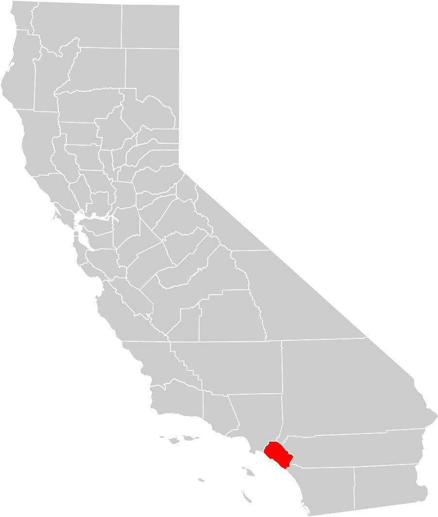 California County Map (Orange County Highlighted) • Mapsof - Orange County California Map