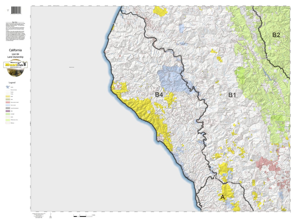 California Deer Hunting Zone B4 Map - Huntdata Llc - Avenza Maps - California B Zone Deer Hunting Map