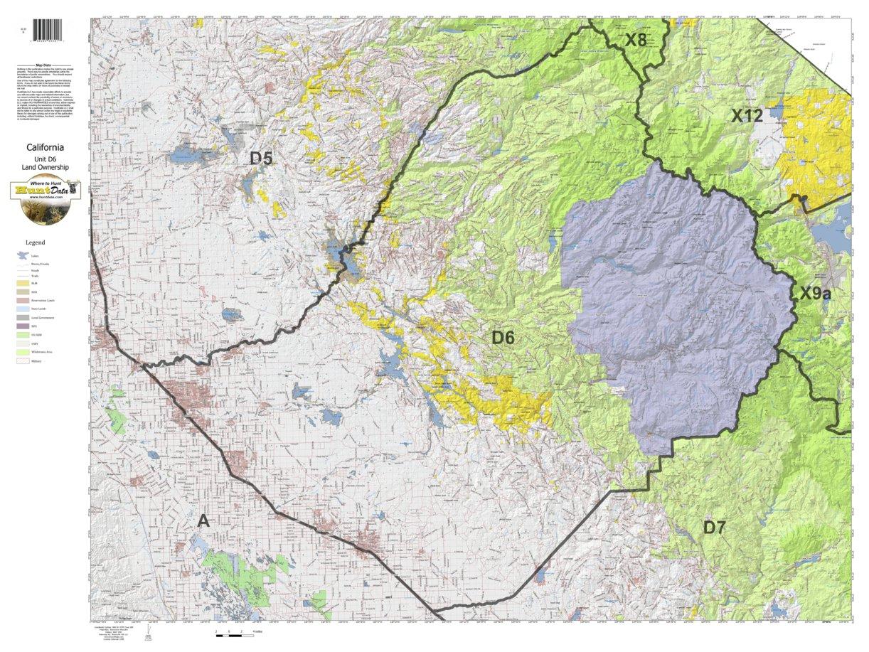 California Deer Hunting Zone D6 Map - Huntdata Llc - Avenza Maps - California B Zone Deer Hunting Map
