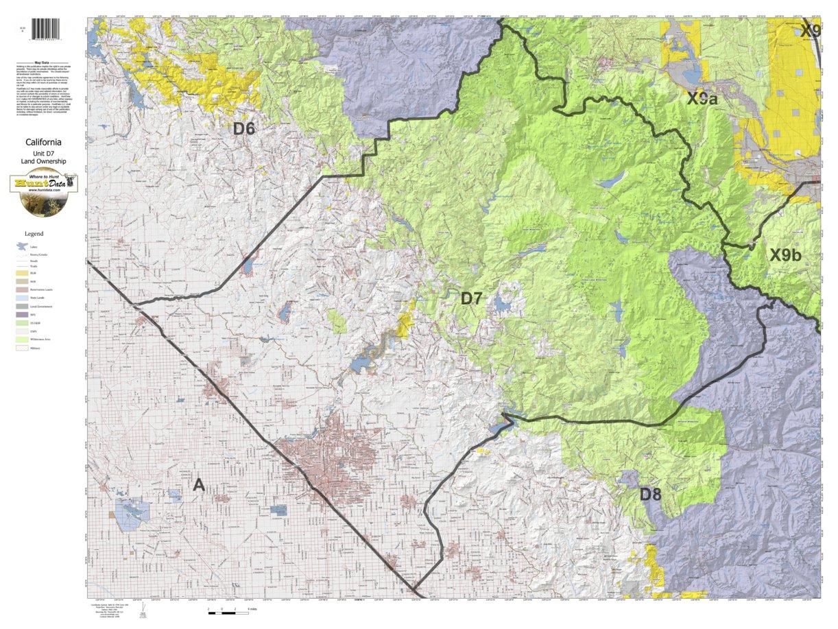 California Deer Hunting Zone D7 Map - Huntdata Llc - Avenza Maps - California Hunting Map