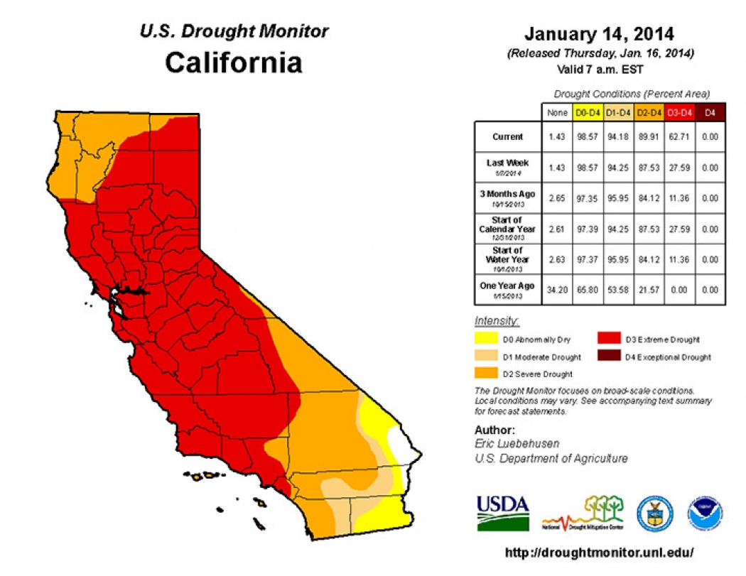 California Drought Expands, Fueling Heat And Fire | Climate Central - California Heat Map