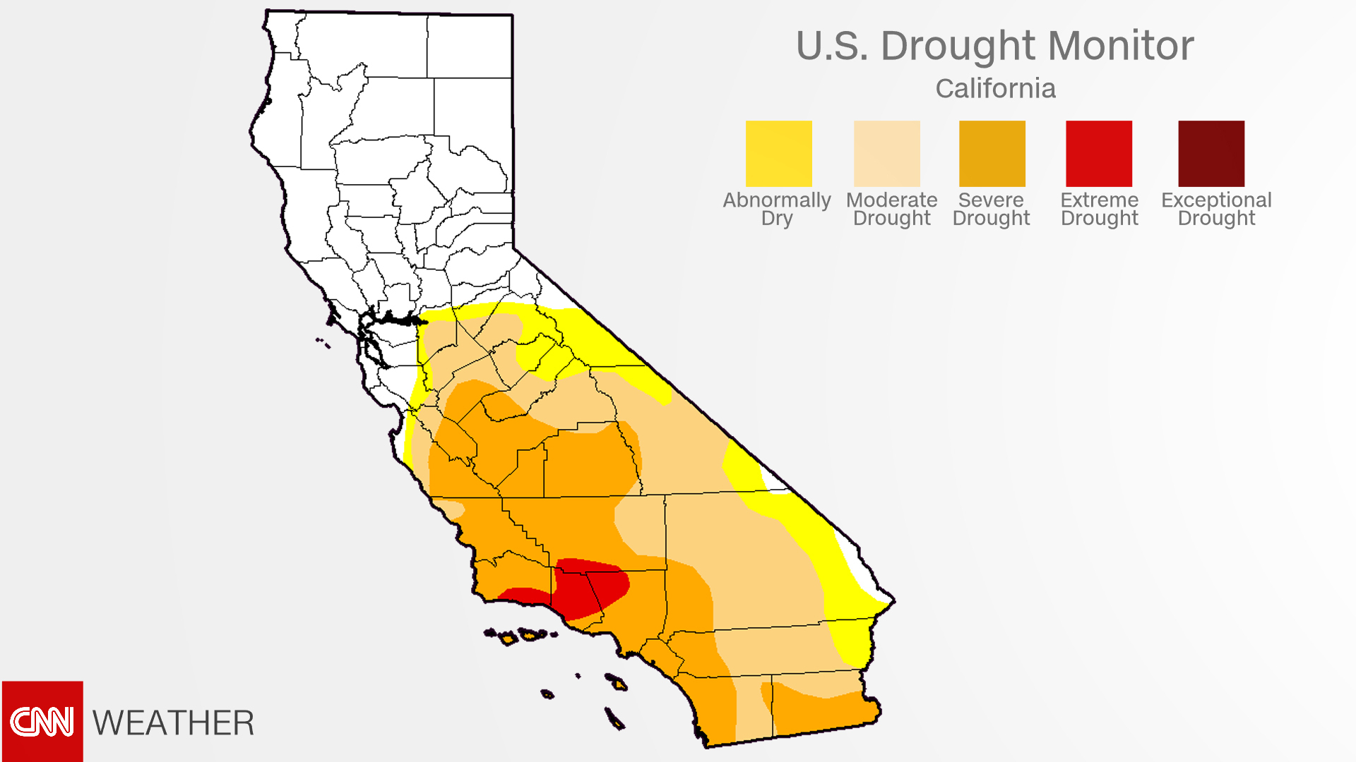 California Drought: Recent Rains Have Almost Ended It - Cnn - California Drought Map 2017