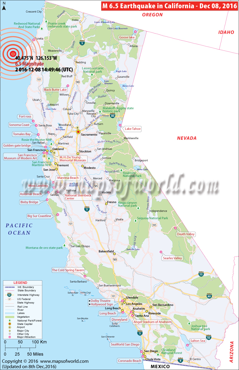California Earthquake Map Valid Map Of Northern California - California Earthquake Map