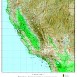 California Elevation Map   Southern California Ocean Fishing Maps