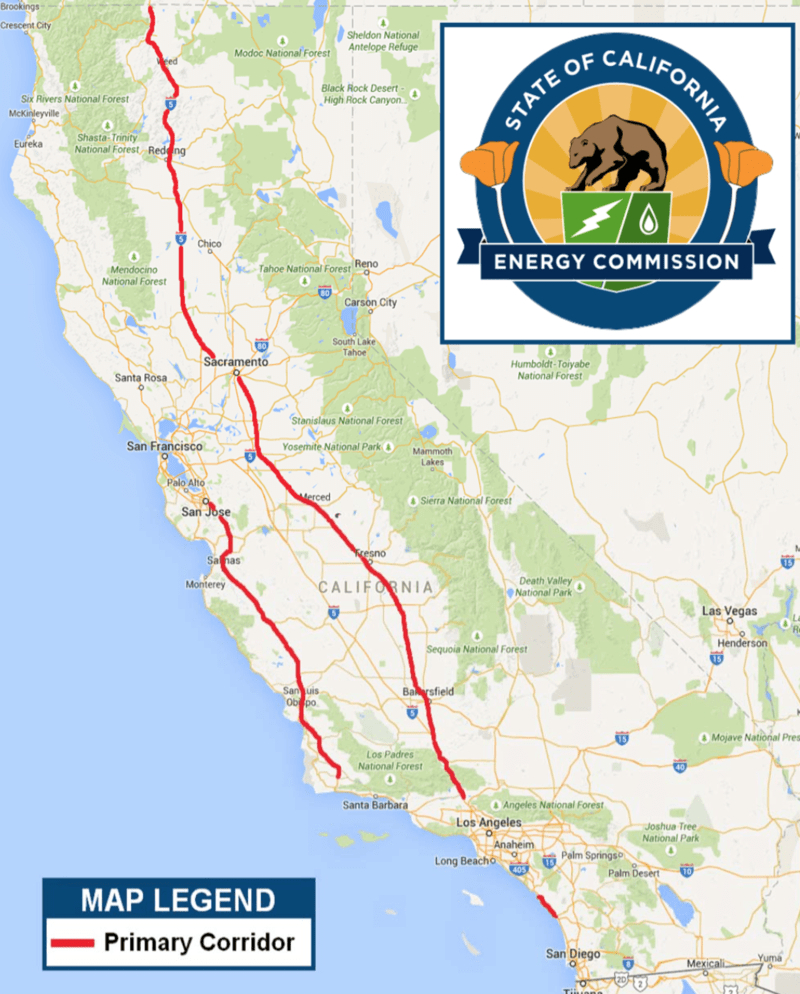 California Energy Commission Proposes $8.9 Million For Ev Fast - Dc Fast Charging Stations California Map