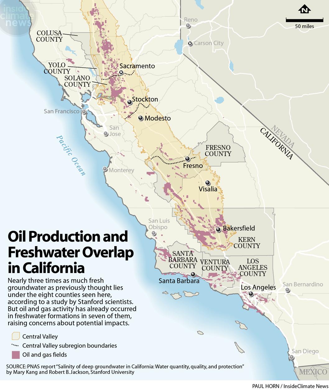 California Farming Heartland Map Of California Springs California - Fracking In California Map