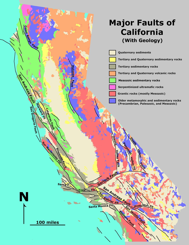 California Fault Line   California Fault Map   Knowledge Is Key - California Fault Lines Map