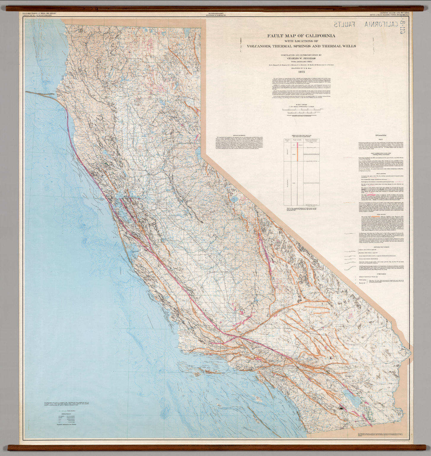 California -- Faults. - David Rumsey Historical Map Collection - Thermal California Map
