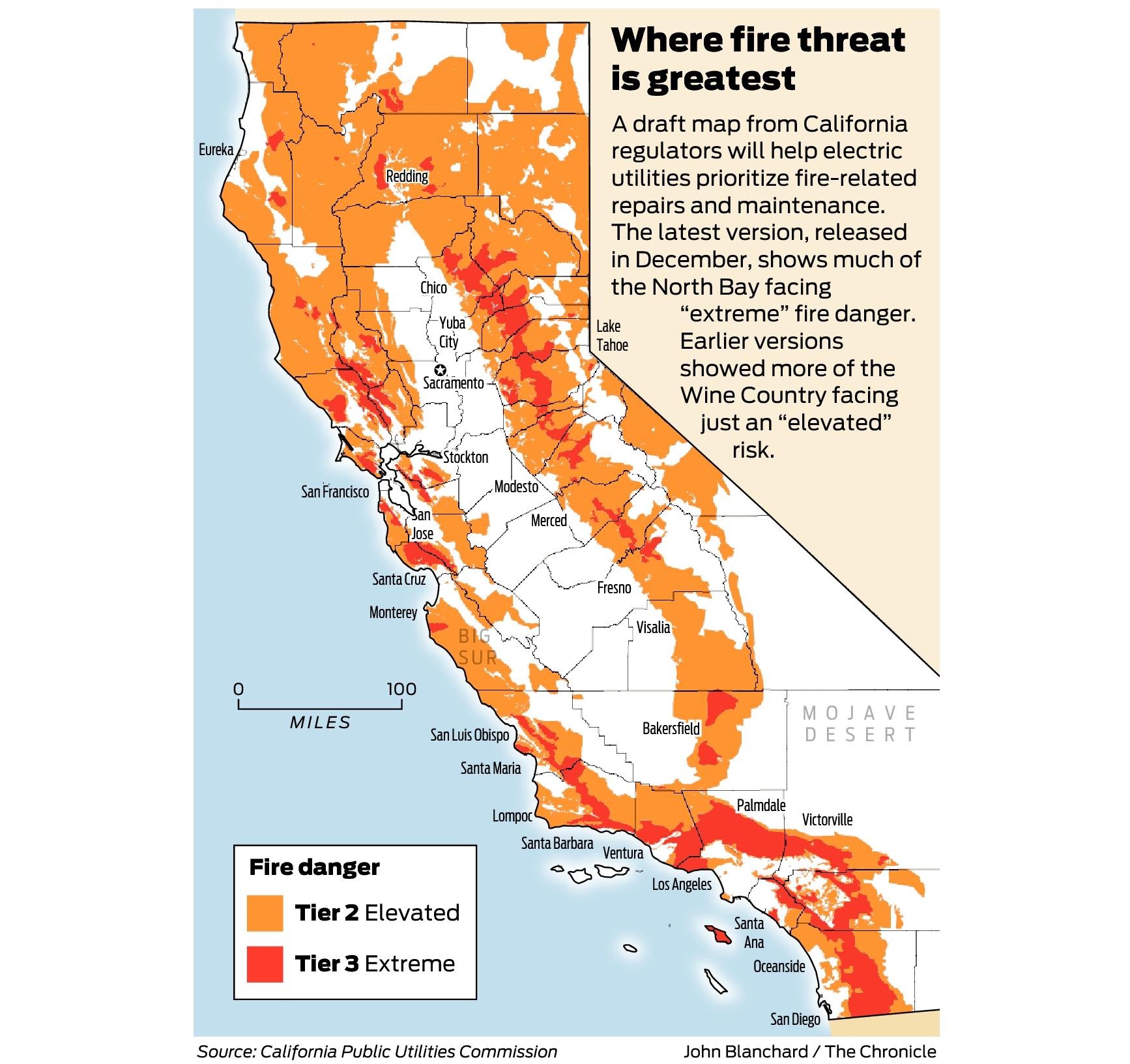 California Fire-Threat Map Not Quite Done But Close, Regulators Say - California Wildfire Risk Map