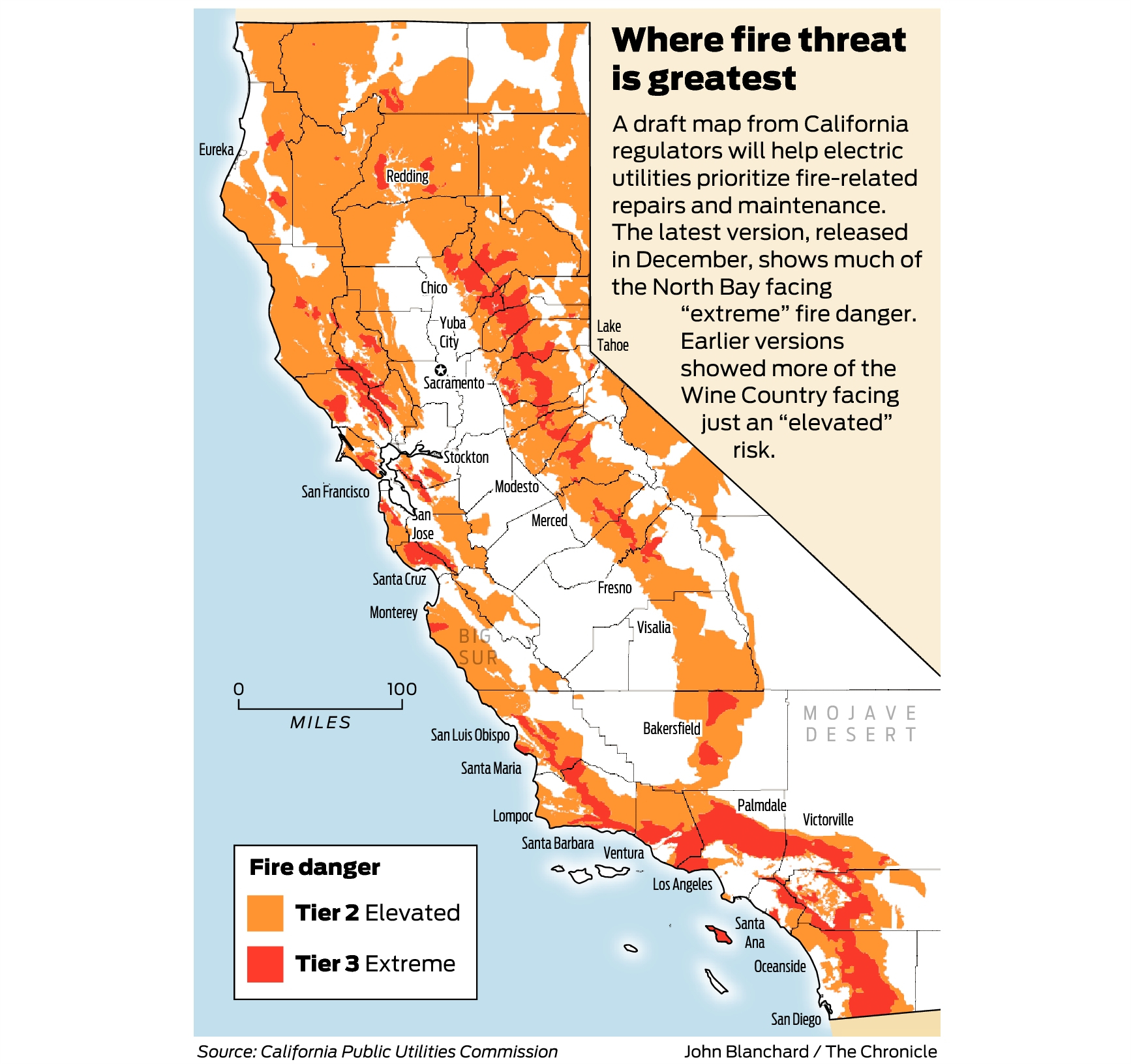 California Fire-Threat Map Not Quite Done But Close, Regulators Say - Where Are The Fires In California On A Map
