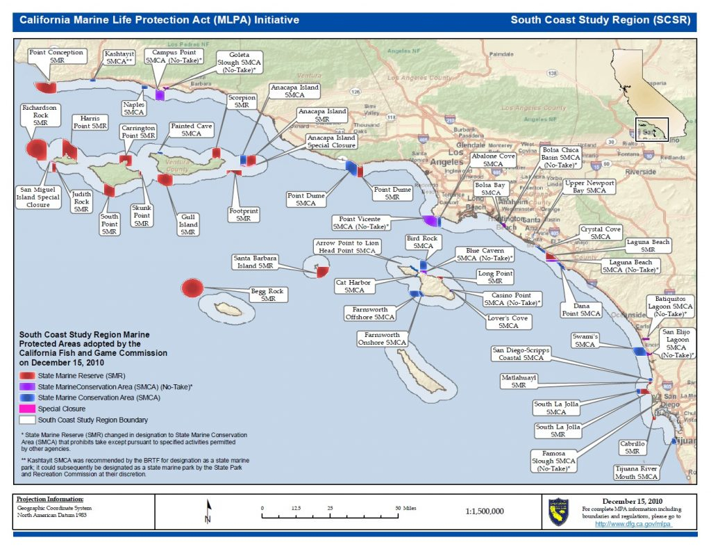 California Fish And Game Commissi California Map With Cities Map Of - Southern California Fishing Map