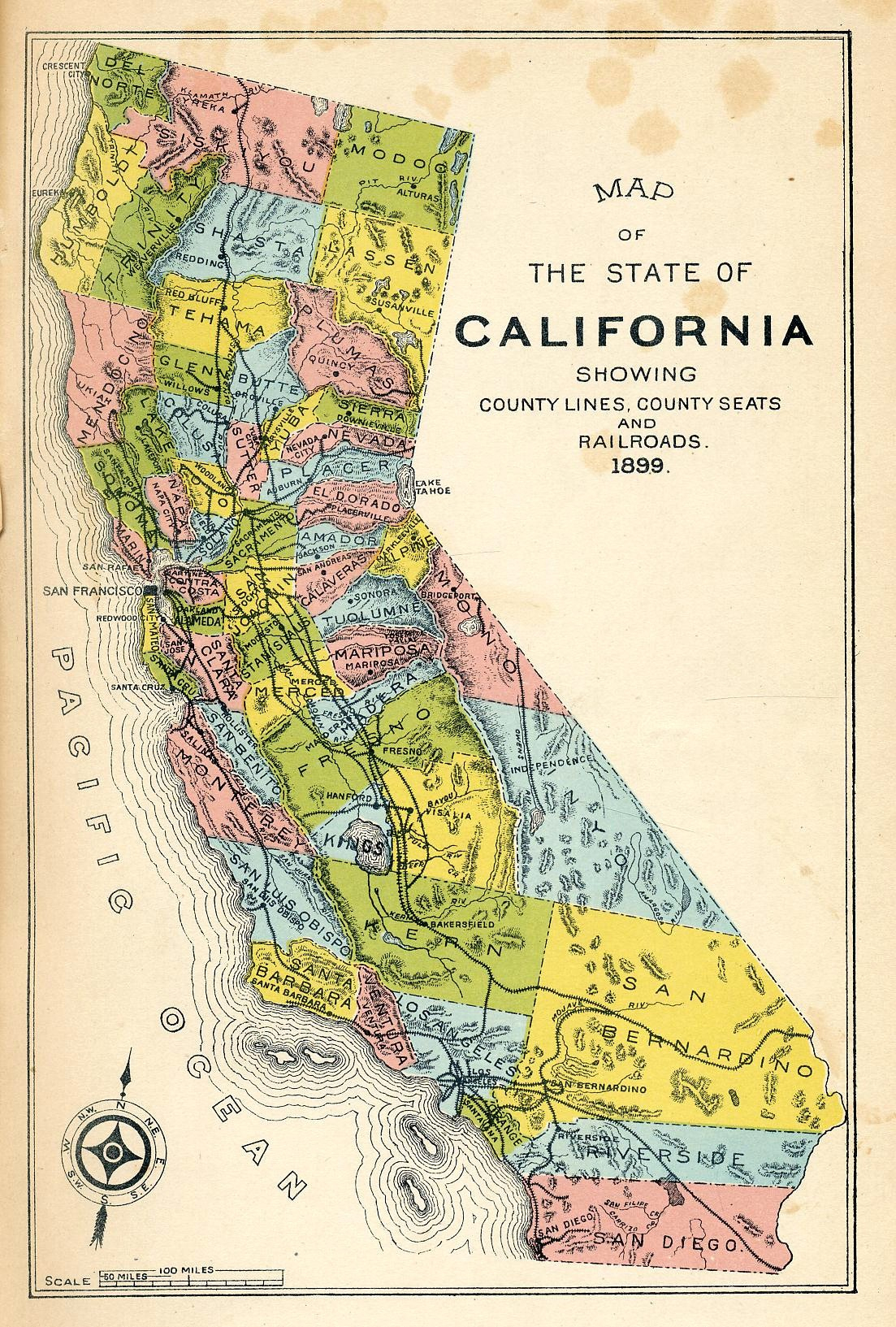 California Gold Rush 1849 Map Map Reference Map California Gold Rush - Gold Prospecting Maps California