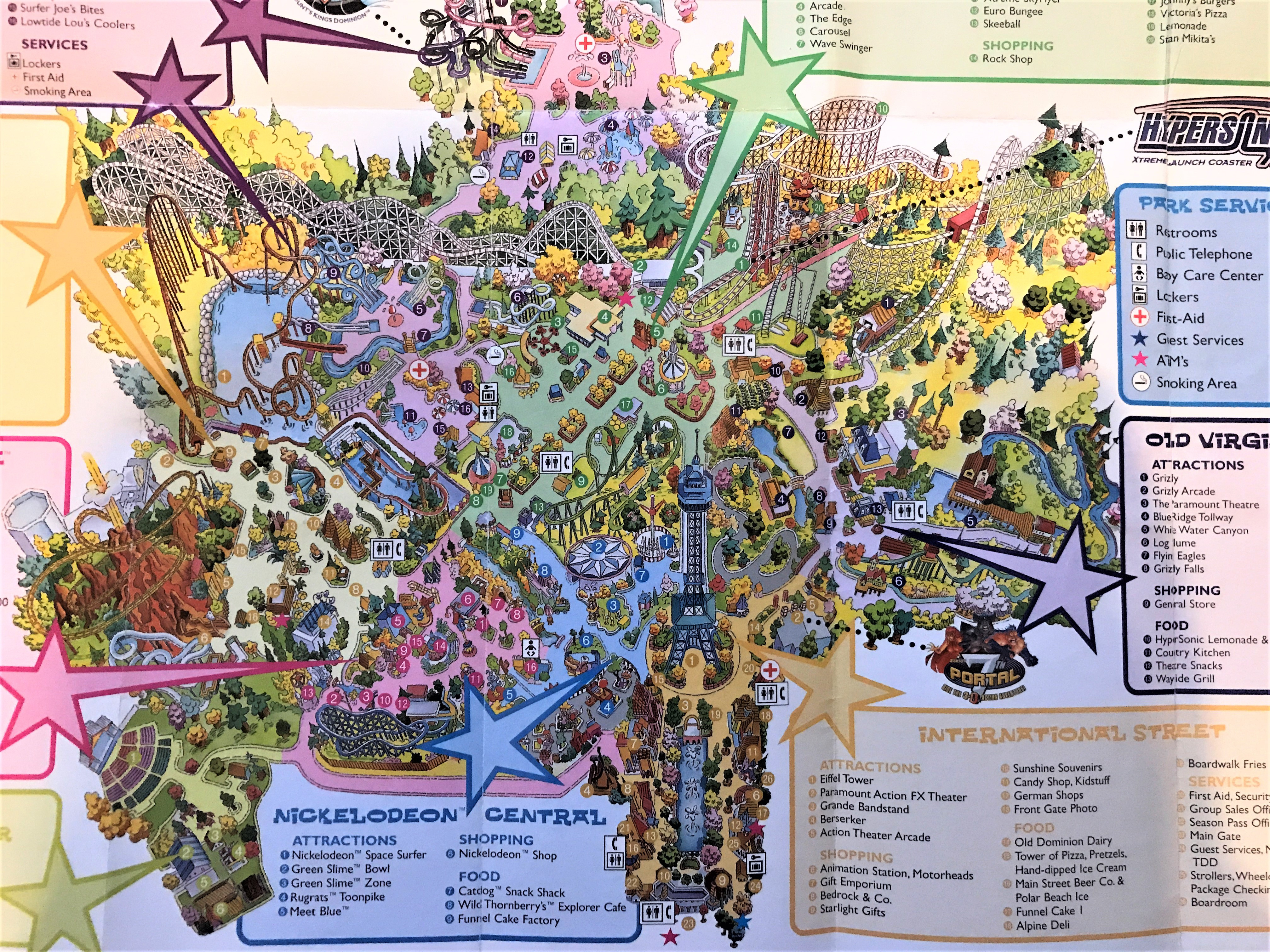 California Great America Map Reference Kings Dominion Historical - California's Great America Map 2018