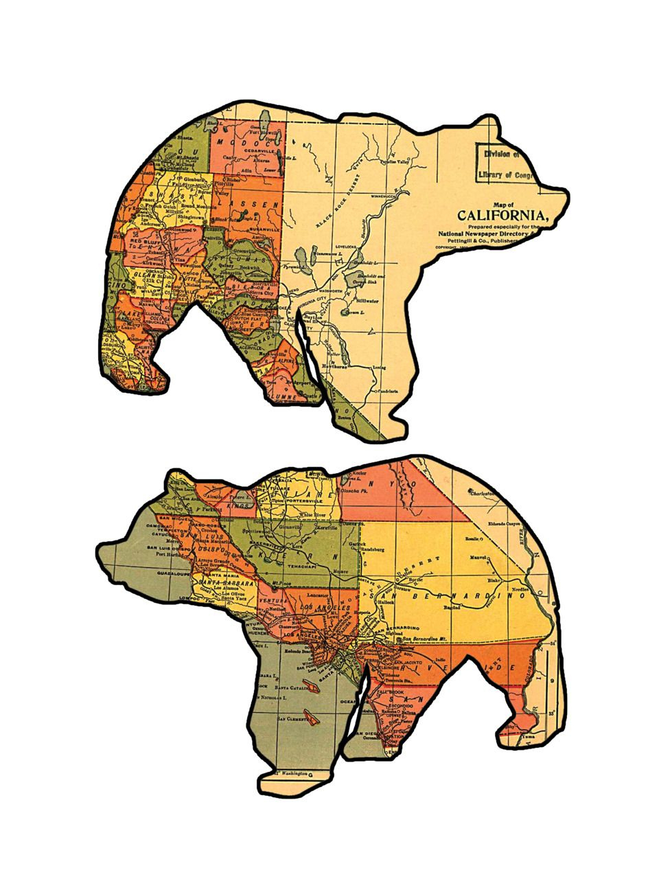California Grizzly Bear Maps. | Maps, Maps, Maps | Pinterest - Bears In California Map