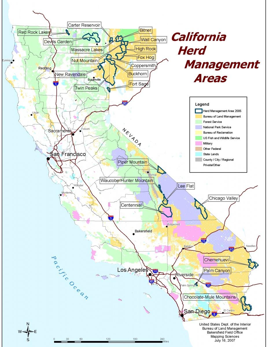 California - Herd Management Areas | Bureau Of Land Management - Blm Land Map Southern California