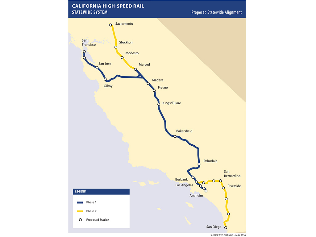 California High Speed Rail Plan Scaled Back - Railway Gazette - High Speed Rail California Map