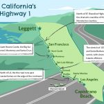 California Highway 1: 750 Miles Of Spectacular Scenery   Map Of Hwy 1 California Coast