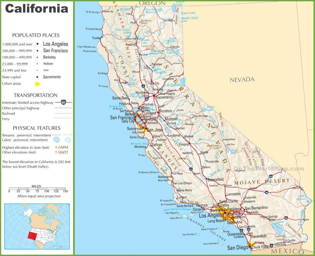 California Highway One Map - Klipy - Highway One California Map