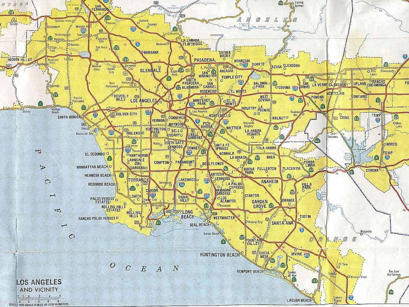 California Highways (Www.cahighways): Southern California - Full Map Of California