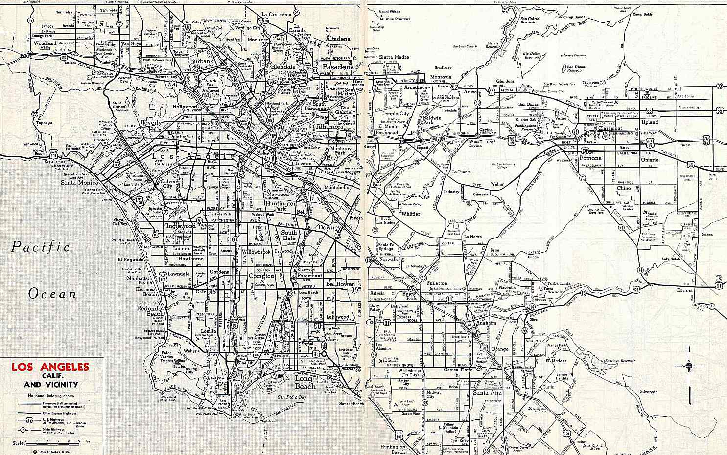 California Highways (Www.cahighways): Southern California - Old Maps Of Southern California