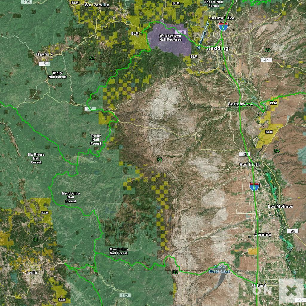 California Hunt Zone B5 Deer - California B Zone Deer Hunting Map