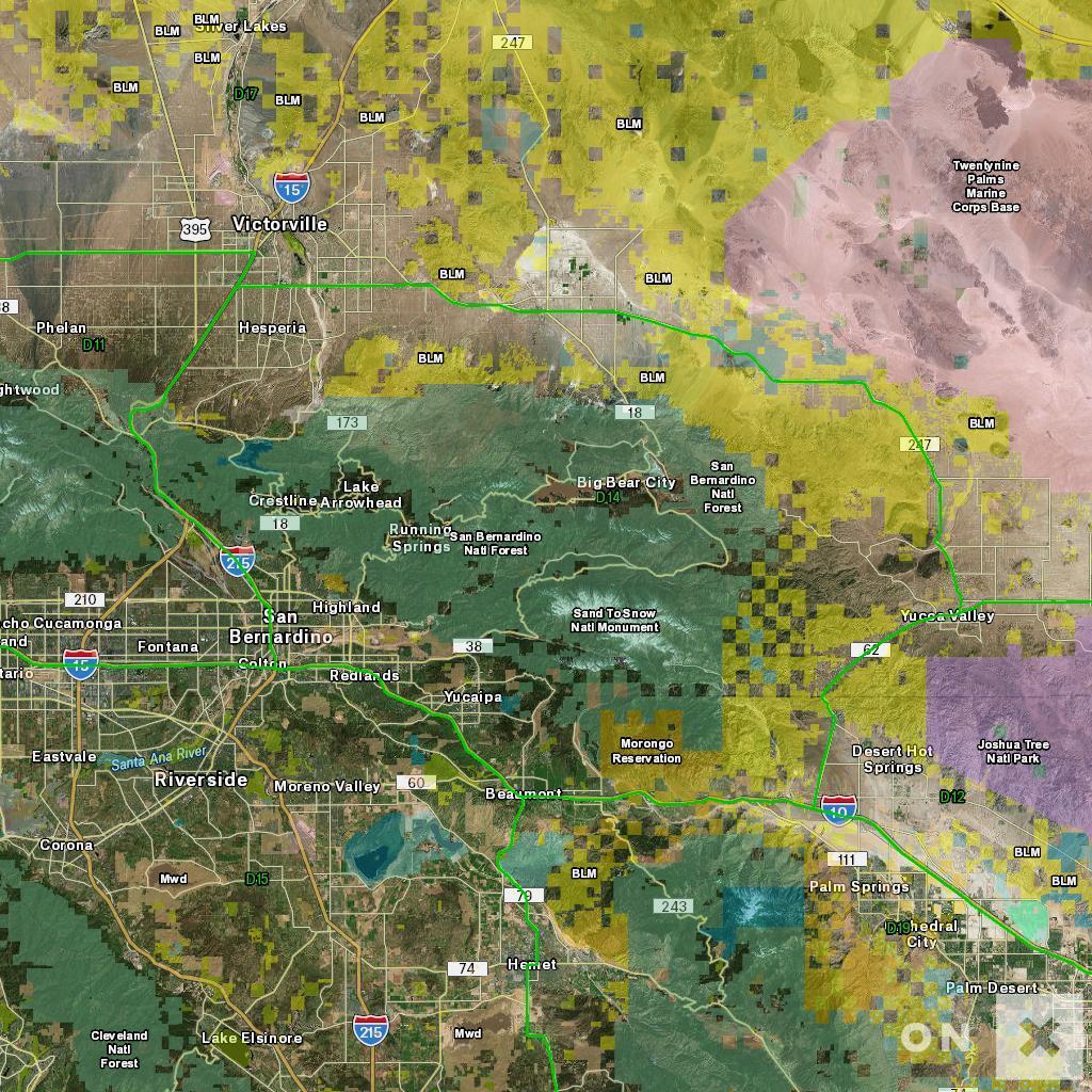 California Hunt Zone D14 Deer - California Hunting Map