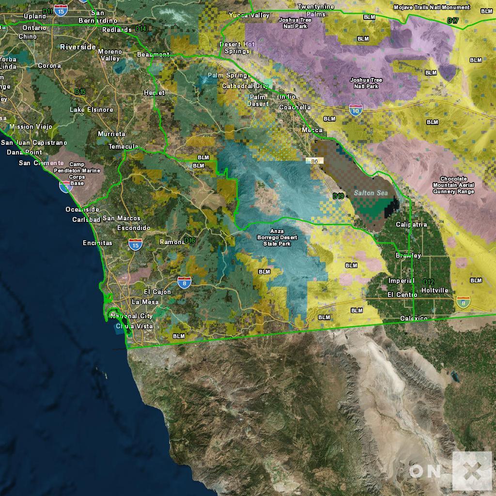 California Hunt Zone D16 Deer - California Hunting Map